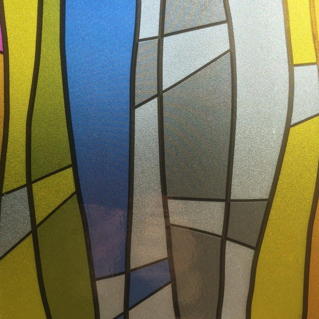 Kända Tryck färgade ränder - Statisk fönsterfilm - Tryck & mönster KL-15